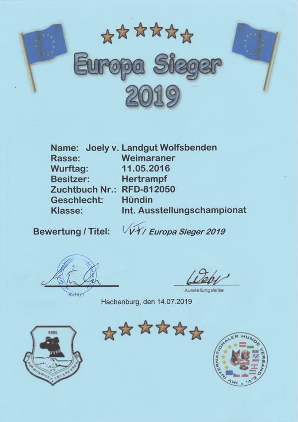 Joely2019 Europasieger